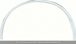REAR WHEEL WELL MOLDING; RH. 1967-68 CAMARO (EXCEPT 68 RS) / FIREBIRD