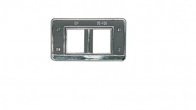 Convertible top/rear defogger switch bezel for 1969 models