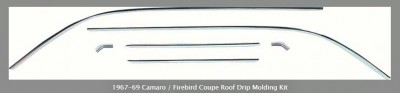 COUPE ROOF DRIP MOLDING KIT  1967-69 CAMARO / FIREBIRD